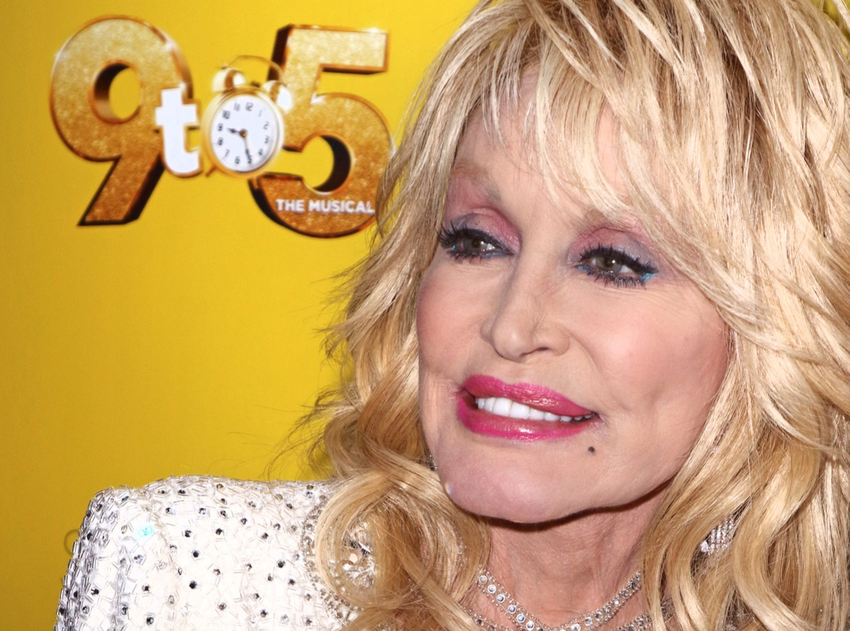 Dolly Parton arrives for the 9 to 5 the Musical Gala Night...