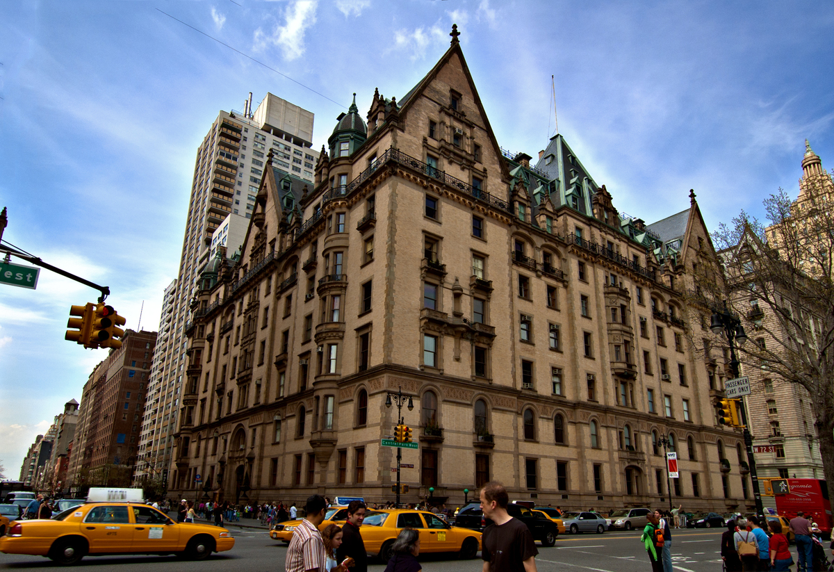 The Dakota Building is located on the northwest corner of 72nd Street and Central Park West in the Upper West Side of Manhattan in New York City. John Lennon and Yoko Ono lived here in the Dakota Apartments directly across the street from Central Park.