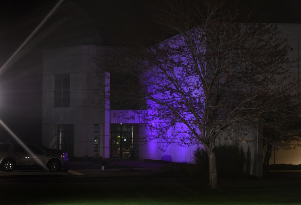 The entrance to the Paisley Park residential compound of music legend Prince in Minneapolis, Minnesota