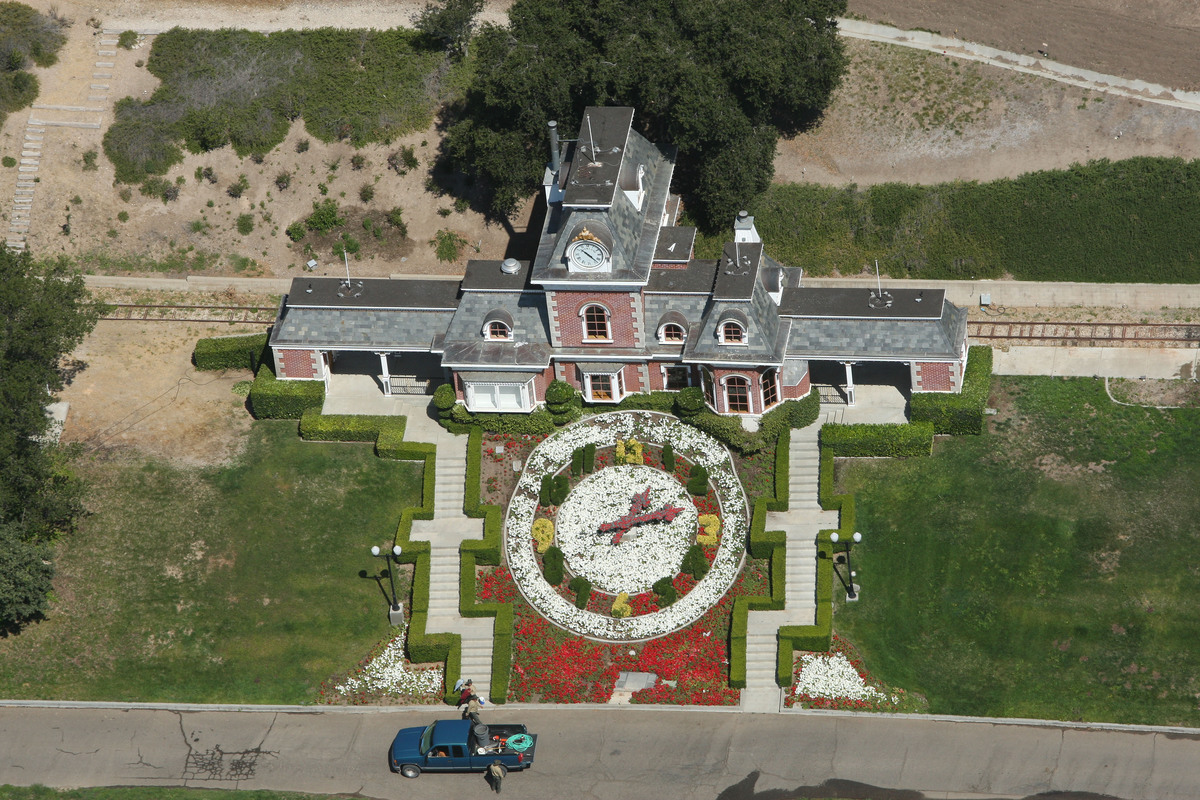 Neverland Ranch, former home of Michael Jackson aerial