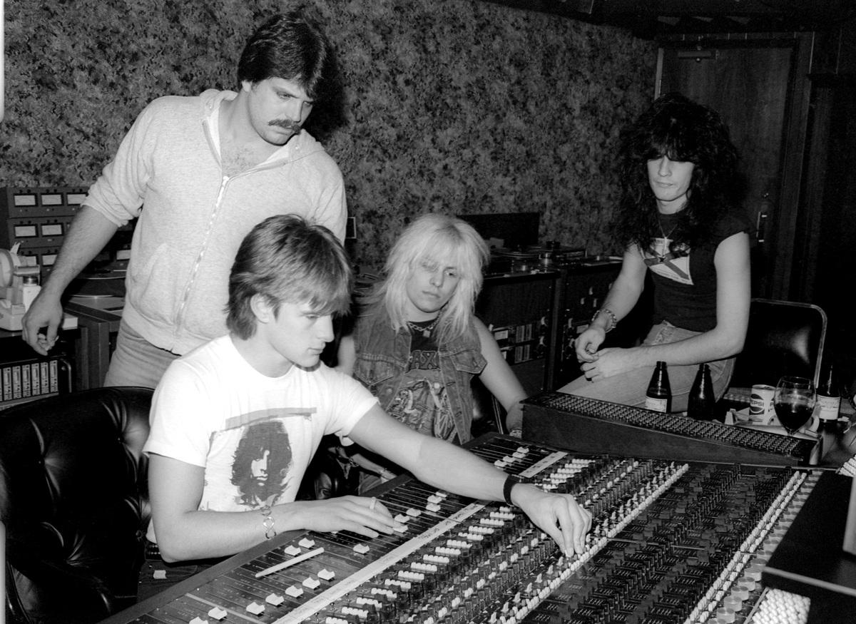 Motley Crue Cherokee Studios circa 1981