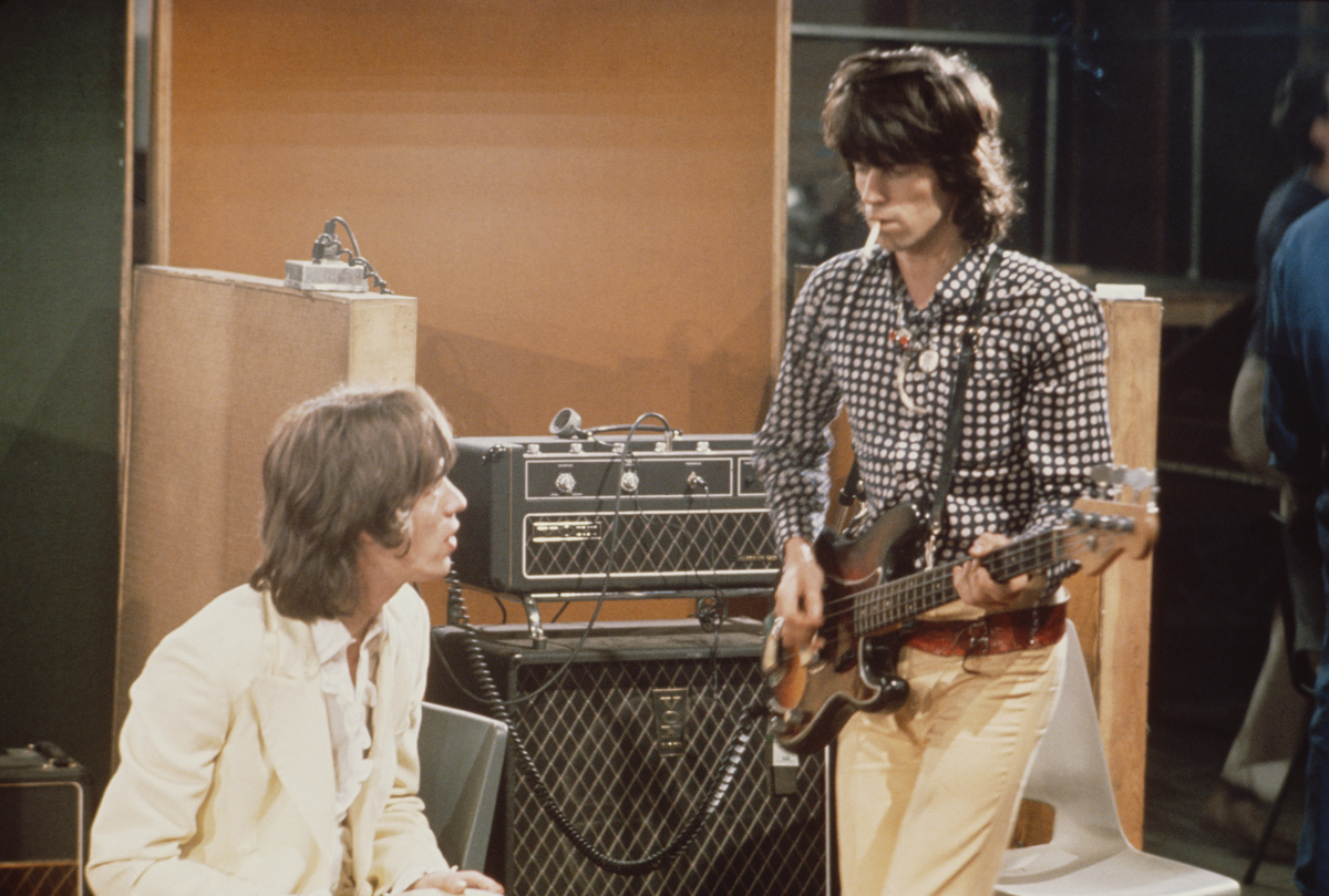 Richard and Jagger at Olympic Studios June 1968