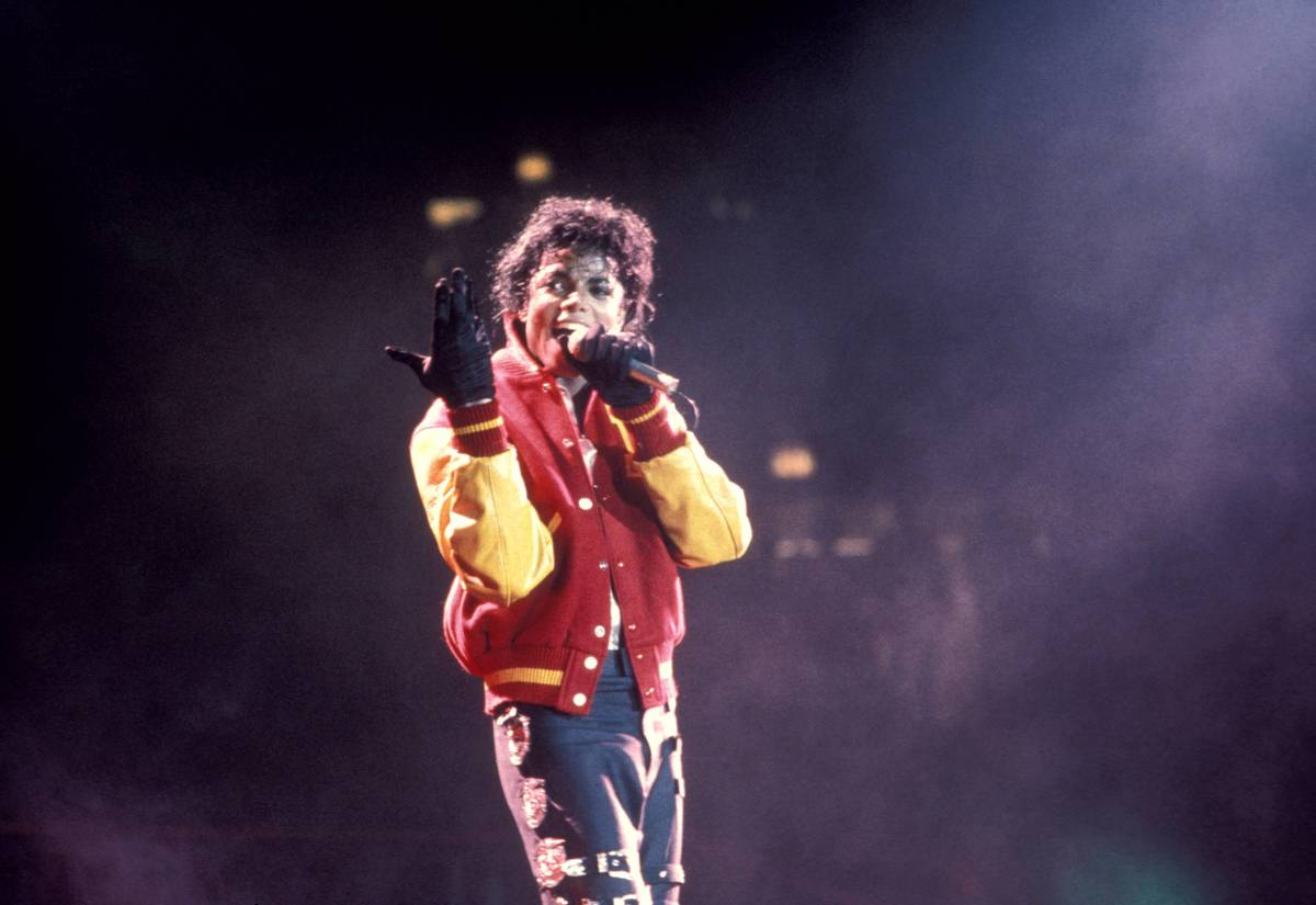 MJ performing thriller at MSG