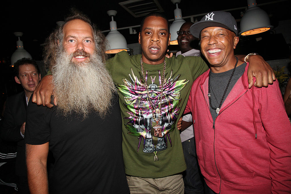 Rick Rubin, Jay Z and Russell Simmons