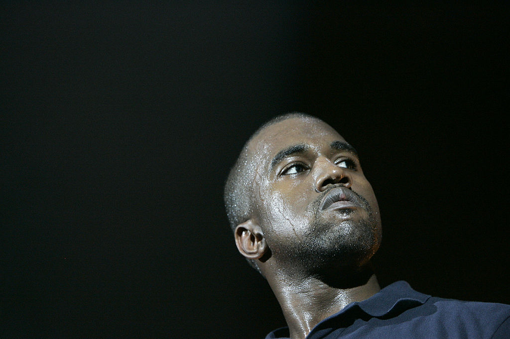 Kanye West during Kanye West Kicks Off His US Tour