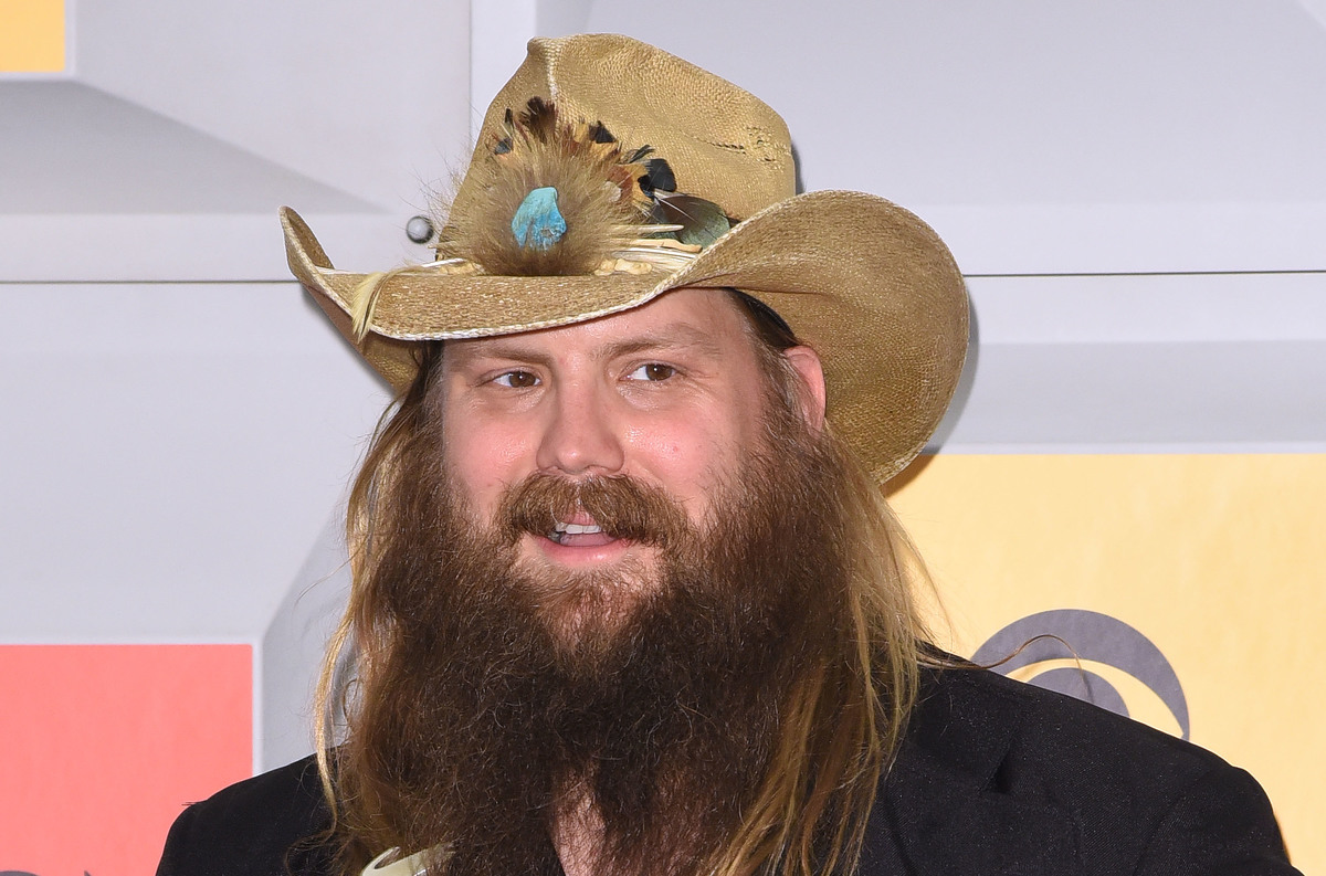 Singer-songwriter Chris Stapleton, winner of the Male Vocalist of the Year, New Male Vocalist of the Year, and Album of the Year awards, poses in the press room during the 51st Academy of Country Music Awards at MGM Grand Garden Arena on April 3, 2016 in Las Vegas, Nevada.