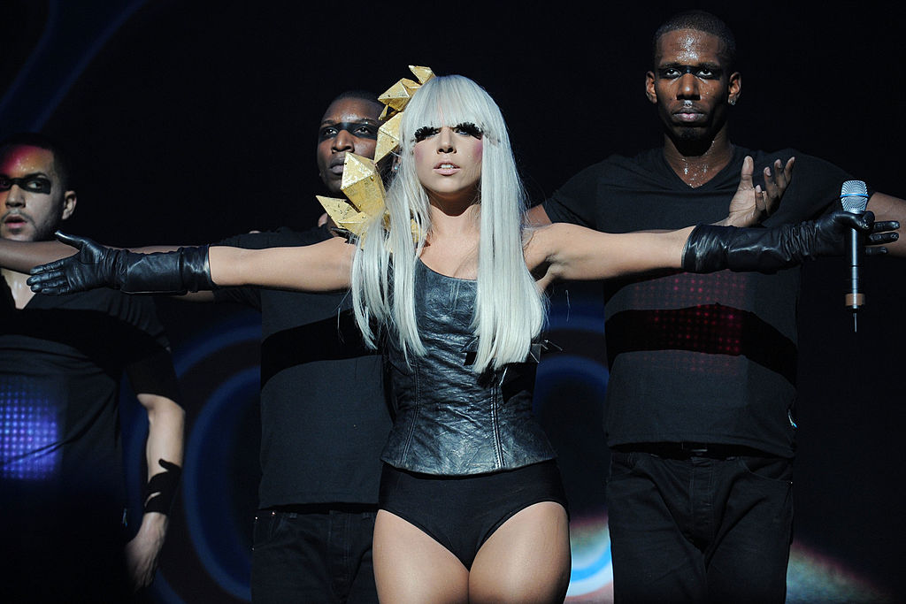 Dance artist Lady Gaga performs
