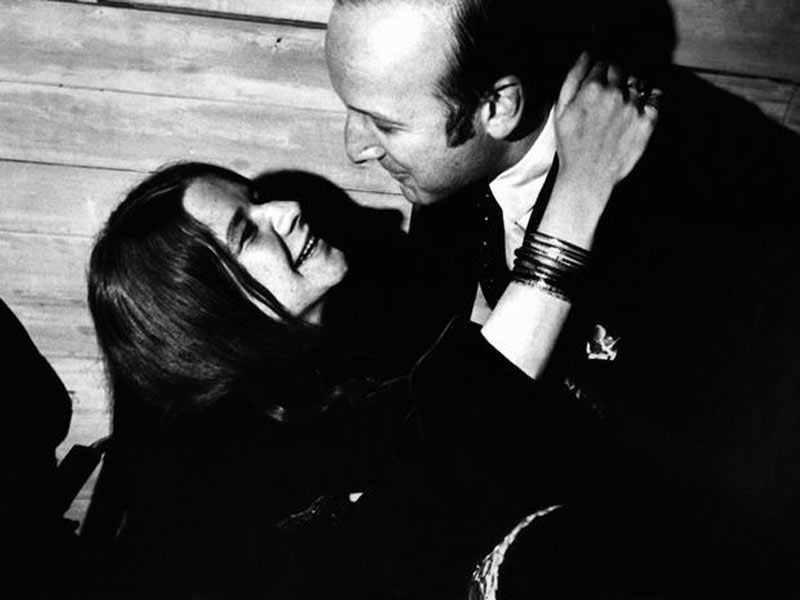 Clive Davis and Janis Joplin in an embrace