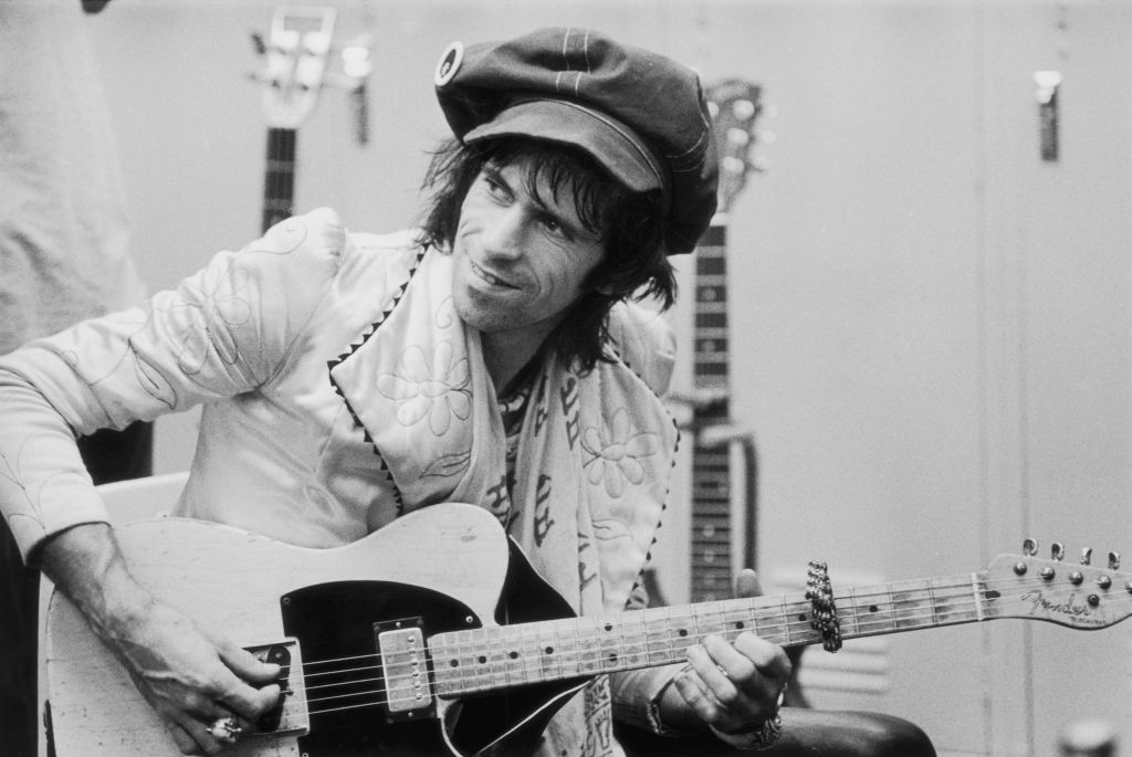 Keith Richards in the studio