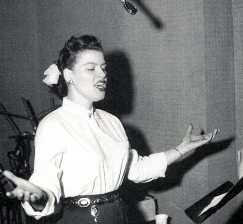 Patsy sings in the studio