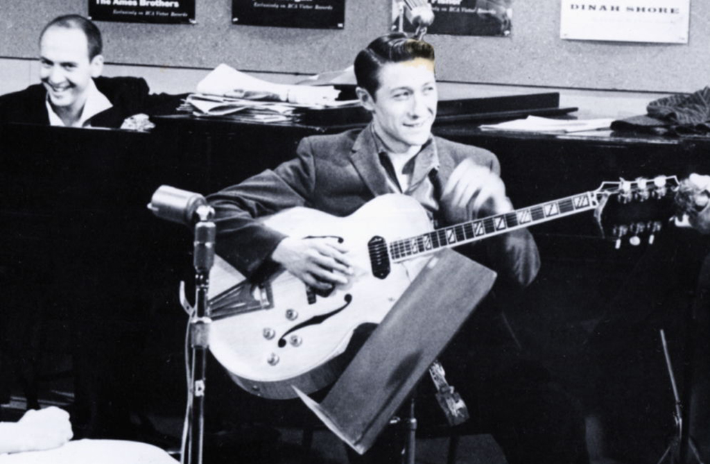 Scotty Moore in the studio