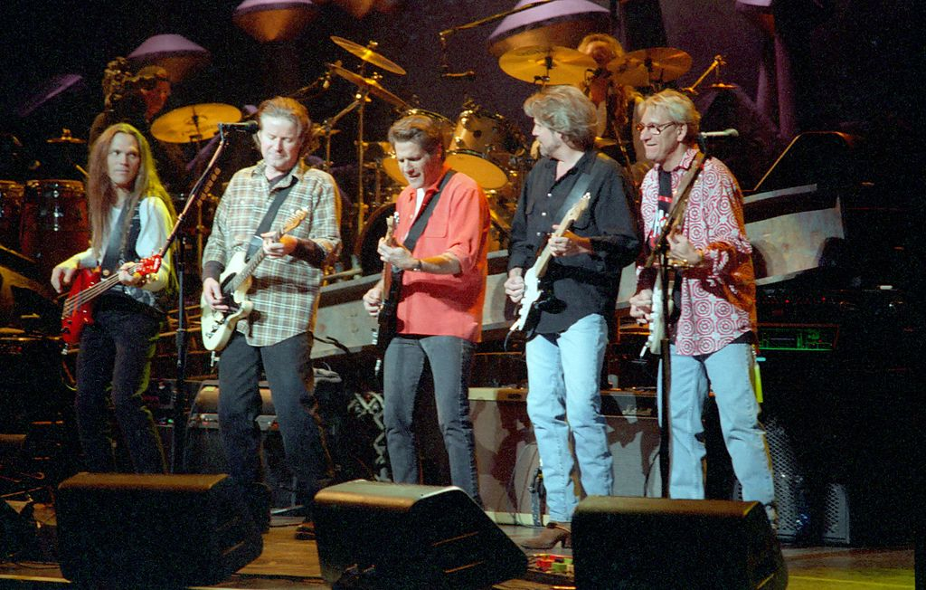 The Eagles playing at the Target Center in 1995