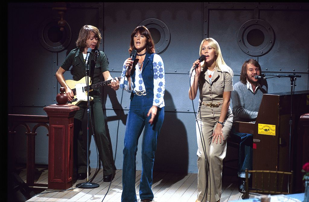abba performing on stage