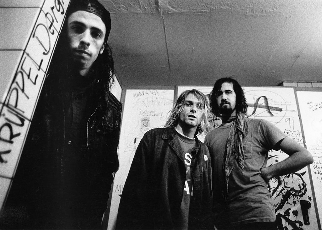 Nirvana during a photo shoot