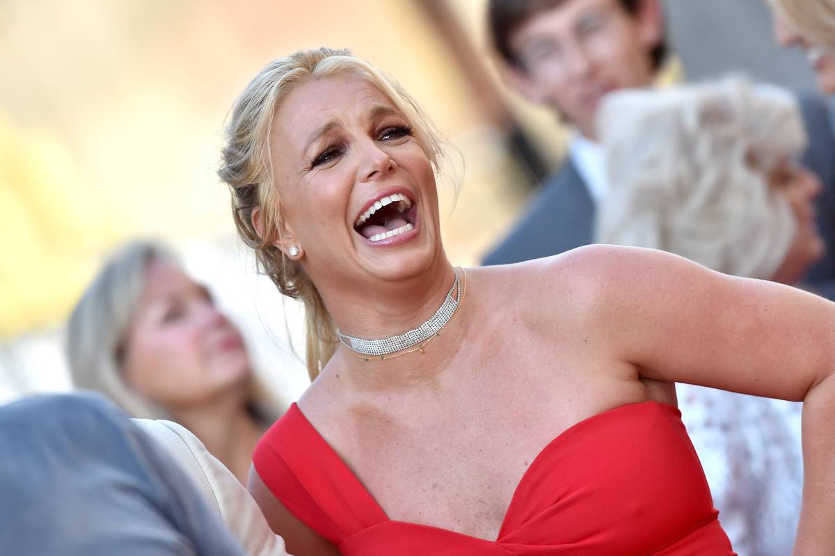 britney spears at a premiere