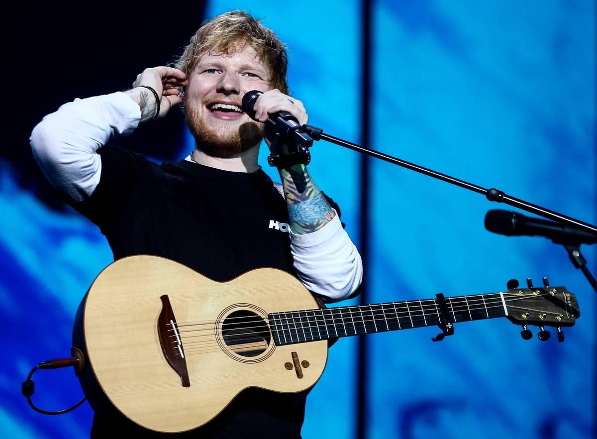 British singer Ed Sheeran performs