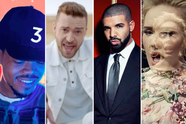 chance-the-rapper-justin-timberlake-drake-adele-2016-year-end-sales-streams-albums-songs