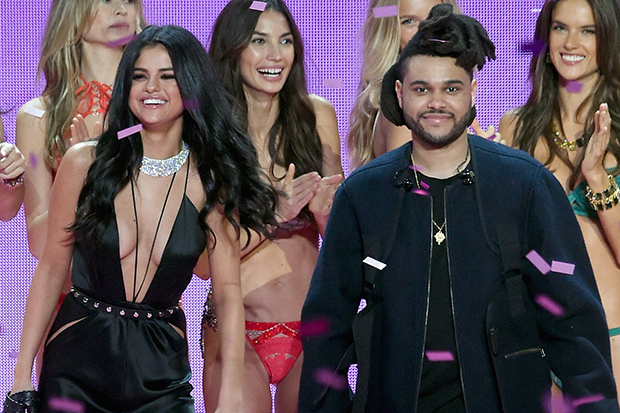 the weeknd selena gomez 2015 Victoria's Secret Fashion Show