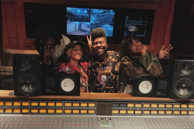 Kelly Rowland Hits The Studio With Khalid