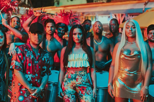 Jax, Demi & Stefflon Don's 'Instruction' Video