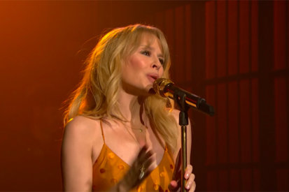 Kylie Minogue Performs