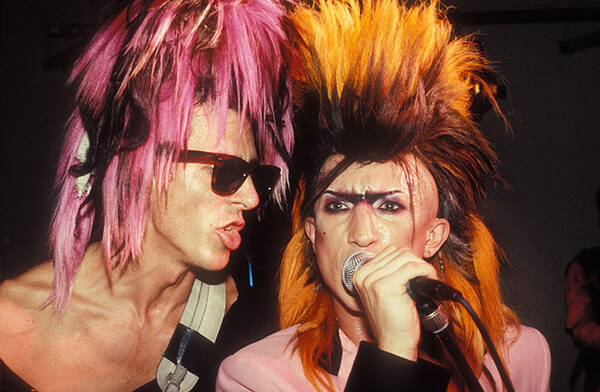 Sigue Sigue Sputnik Donned Magenta Extensions