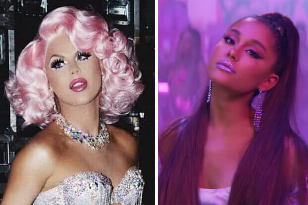 """Farrah Moan Claims Ariana Grande Stole Her Look For """"7 Rings"""" Video"""