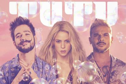 Shakira Hops On Camilo & Pedro Capó's