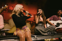 Julia Michaels & Selena Gomez Perform